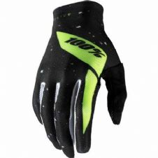 New 100% Celium Glove Motocross S M L XL Black/Flo Yellow